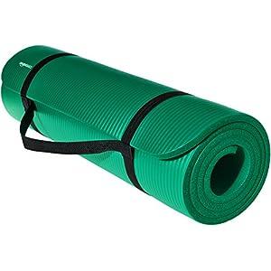 Amazonベーシック ヨガマット トレーニングマット エクササイズマット キャリーストラップ付 極厚 188×61×1cm グリーン