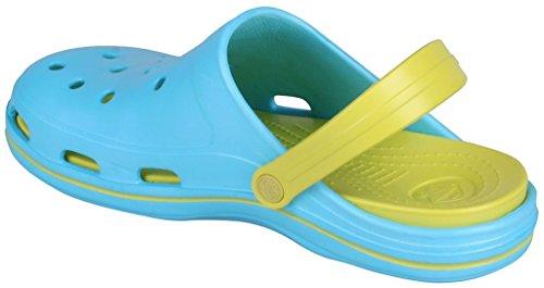 Coqui Women's Girl's Clogs Sandals - BODEE B1202 Turq/Citrus OLNWGG