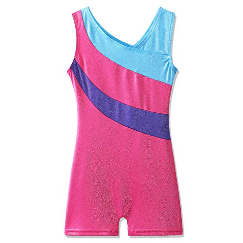 BAOHULU Toddler Girls Leotards for Gymnastics Sparkle Colorful