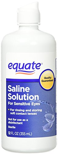Equate Contact Lens Saline Solution for Sensitive Eyes, Twin Pack, 12 Fl Oz, 24 Total Oz (Compare to Bausch & Lomb Eyes Plus)