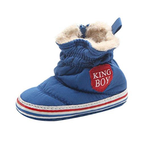 Hunpta Herbst Winter Baby Boy Soft Sohle Erste Walker Krippe Schuhe Snow Boots Blau