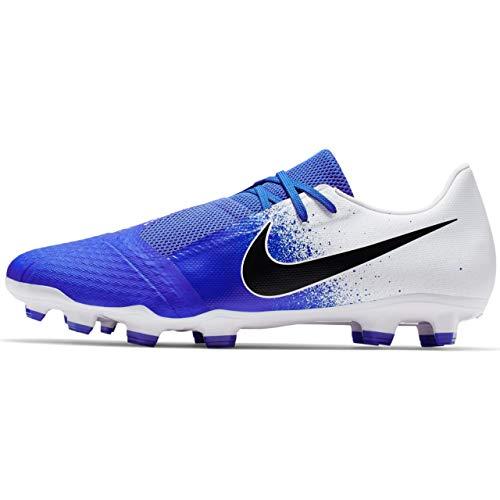 ceb58772c Nike Phantom Venom Academy FG Soccer Cleat (White/Racer Blue) (Men's  7.5/Women's 9)