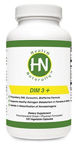 DIM 3 + - 120 Capsules végétales | oestrogène équilibrage | Propriétaire DIM, la curcumine, BioPerine® Formula