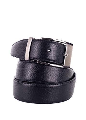 Roberto Cavalli Mens Black Grained Leather Square Buckle Belts Sz44~RTL$325 from ROBERTO CAVALLI