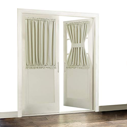 Aquazolax Blackout French Door Curtain Side Panels for