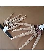 Halloween gelede vingers, 3D-geprinte gelede vingerextensies Vingerhandschoenen, past op alle vingermaten, flexibel als je eigen vingers, cosplay feestrekwisieten -white||1 pair