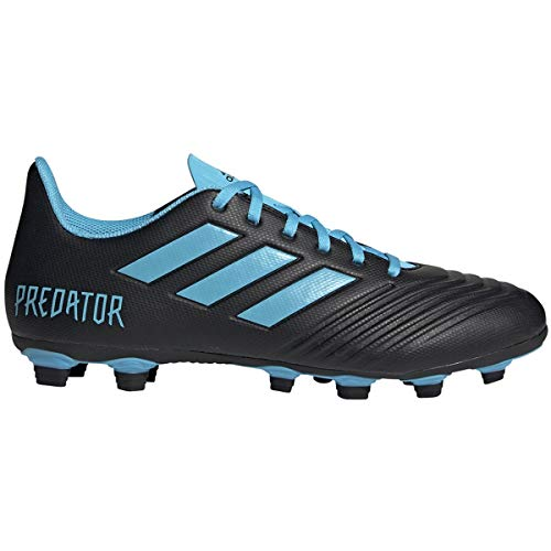 adidas Men's Predator 19.4 Firm Ground Soccer Shoe, Black/Bright Cyan/Solar Yellow, 13 M US (The Best Soccer Shoes Ever)