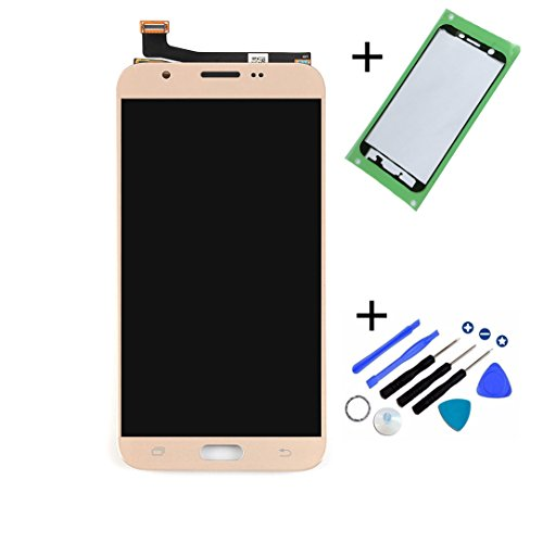 Eaglestar J727 Full LCD Assembly With Touch Screen Digitizer and LCD Pre-installed Replacement With Pre-cut Frame For Samsung Galaxy J7 2017 SM-J727T J727P J727A+Tools-Gold
