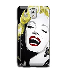 Tomhousomick Custom Design Women's Fashion Cases Sexy Star Marilyn Monroe Style Case for Samsung Galaxy Note 3 III Back Cover #53