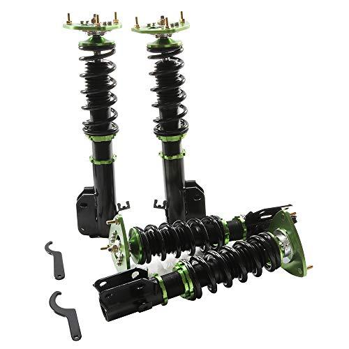 - Coilover Struts Spring Shocks Assembly Adjustable Strut Shock Suspension Full Set Kits ECCPP for 2005 Saab 9-2X 2003-2008 Subaru Forester 2002-2007 Subaru Impreza
