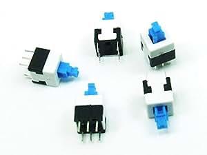 Piezas 5x MINI Conmutador Interruptor / Switch 8x8mm LATCHING THT PCB #A609