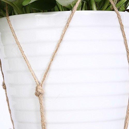 2/x da.WA Plant Hanger indoor outdoor fibra di iuta naturale pensili per contenere fino vaso di fiori