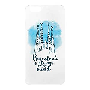 Loud Universe Apple iPhone 6 Plus 3D Wrap Around Barcelona Print Cover - White
