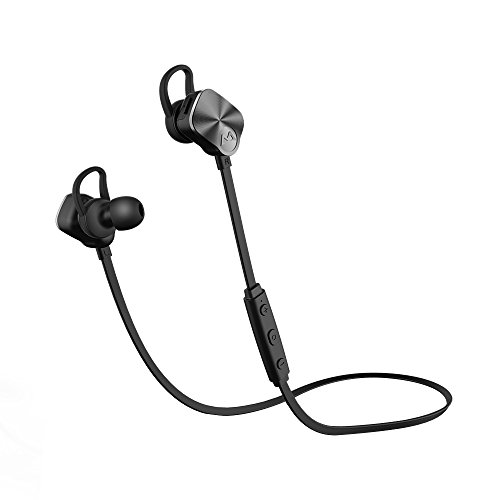Mpow V4.1 Bluetooth Headphones Wireless Sport Earphones, Snug Fit In-ear Running Earbuds with Mic-Black