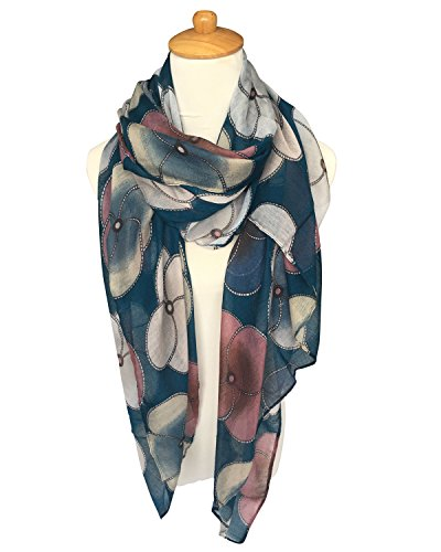 GERINLY Scarf Wrap - Ladies Fashion Oblong Scarves Evening Prirmrose Flowe
