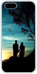 iPhone 5 5S Cases Hard Shell White Cover Skin Cases, iPhone 5 5S Case Romantic Couple