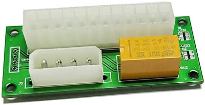Fasmodel SATA 4Pin Desktop ATX 24PIN Dual PSU Power Synchronizer Start Extender Cable Card Adapter for BTC Miner Antminer Mining add2psu
