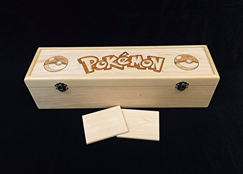 Pokemon Engraved Deck Box with Hinges & 2 Latches-16 3/4x4 1/2 x4 1/4