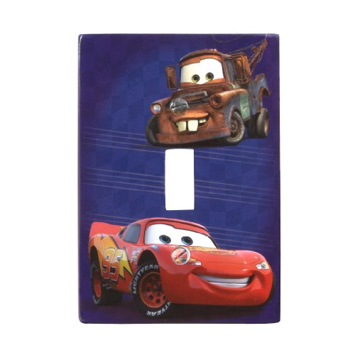 Amerelle D2201T Disney Licensed Cars Single Toggle Wallplate, Blue by Amerelle