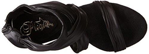 Blk Matte Pleaser Sandales Noir fabric Impulse Pu Ouvert Bout Blk Femme 558 qOUwqF0