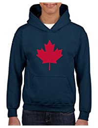 Xekia Canada Maple In Red Unisex Hoodie For Girls and Boys Youth Sweatshirt
