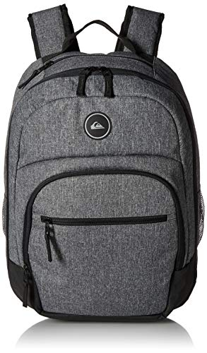 (Quiksilver Men's SCHOOLIE Cooler II Backpack, Light Grey Heather, 1SZ)