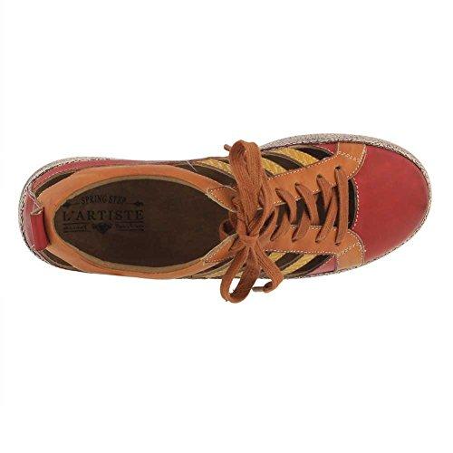L`artiste Dames Porscha Sneaker Rood Multi Leer