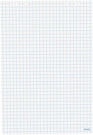 Herlitz 10408151 Flipchartblock kariert (20 Blatt je Block) 68x99cm Recycling (Recycling-Papier, 10 Flipchartblöcke)