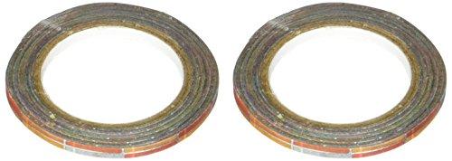 Little B 100880 Decorative Foil Paper Tape, Silver Foil Multi Color Squares
