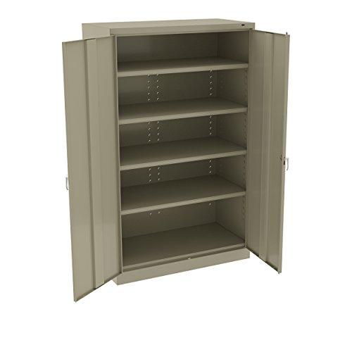 Jumbo Shelf Storage - Tennsco J1878SUSD J1878SU Welded Heavy Gauge Steel Jumbo Storage Cabinet, 5 Shelves, 400 lb. Capacity per Shelf, 48