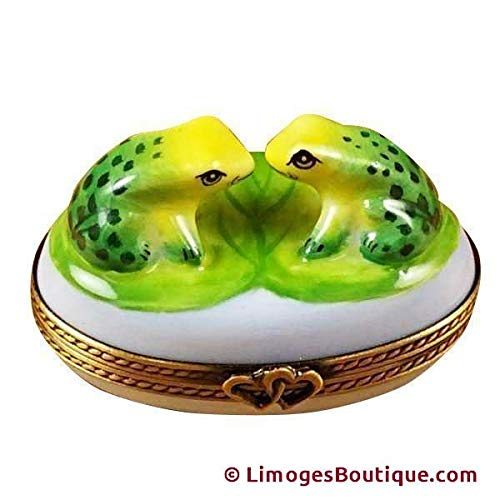 LOVE FROGS - LIMOGES BOX AUTHENTIC PORCELAIN FIGURINE FROM FRANCE ()