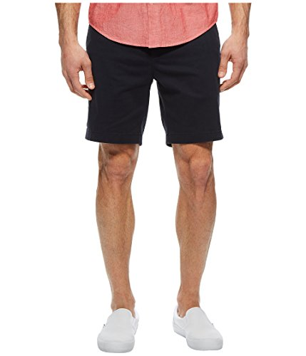 (Nautica Men's Classic Fit Flat Front Stretch Solid Chino Deck Short, True Navy, 33W)