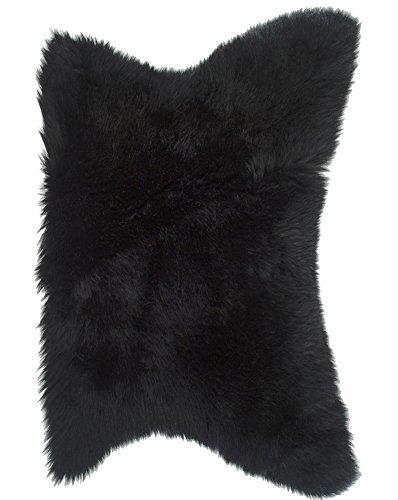 Genuine Half Sheepskin / Motorcycle Seat Pad / Pet Pad in Black by LAMBLAND