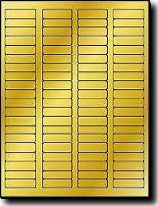 "1,600 Label Outfitters 1.75"" x .5"" Gold Foil Laser Printable Return Address Labels - 20 Sheets"