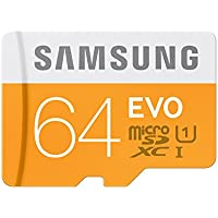 Samsung Memory 64GB Evo MicroSDXC UHS-I Grade 1 Class 10 Memory Card without Adapter