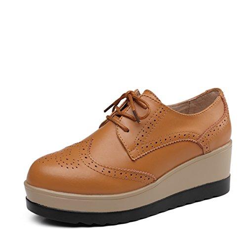Otoño zapatos del ocio/Zapatos de plataforma de viento UK mujeres/escoge los zapatos/Zapatos de suela gruesa/Zapatos de cuero genuino/Zapatos de mujer planos A