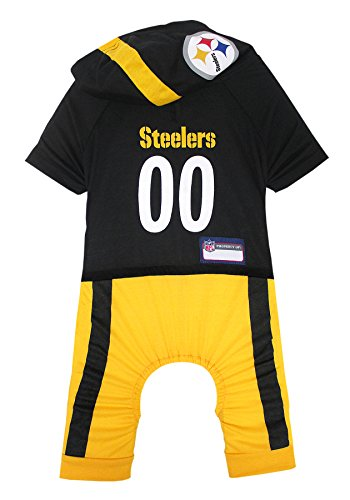 NFL Pittsburgh Steelers Pet Onesie, Size X-Large. Cutest Pet Outfit for Any Pet, Any Occasion!