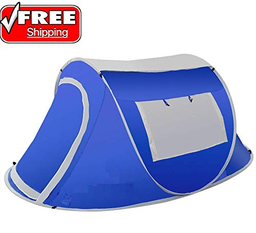 - Pop-up Tent 2 Person Water Resistant Barrel Style Rain Fly Camping Enclosure