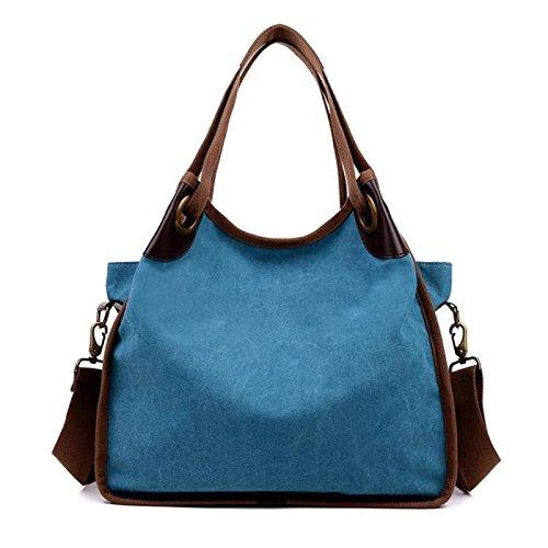 (Women Bags Fashion Ladies Handbag Canvas Shoulder Bag Large Tote Ladies Purse Clearance Bags)