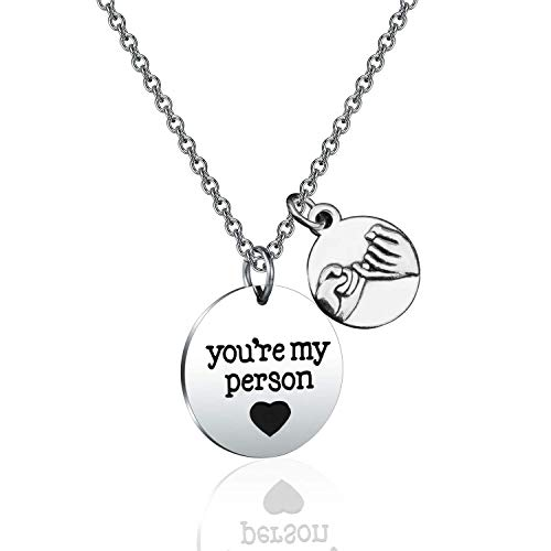 WUSUANED You're My Person Necklace Grey's Anatomy Inspired Coworker Birthday Gift Best Friend Necklace (You're My ()