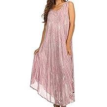 Sakkas Kara Long Draped Sleeveless Marbled Caftan Dress / Cover Up