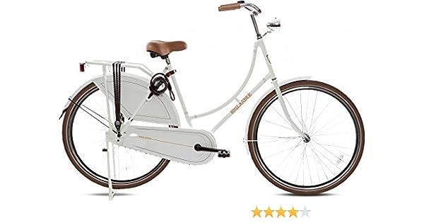 """Highlander - Bicicleta holandesa 28"""" blanca: Amazon.es: Deportes y ..."""