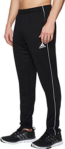 0a56c696f9 adidas Men's Soccer Core 18 Training Pants, Black/White, - Import It All