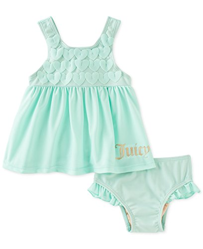 Juicy Couture Baby Girls 2-Piece Mint Swimsuit (18 Months)