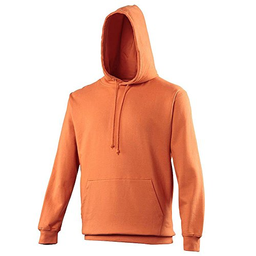(Pullover College Hoodie - 46 Different Colours Available - Burnt Orange - M )
