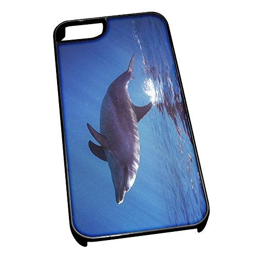 Nero Cover per iPhone 5/5S 0046Dolphin Animal