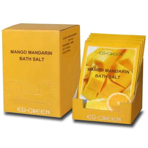 ssage Natural Sea Mineral Bath Salts, Mango Mandarin ()