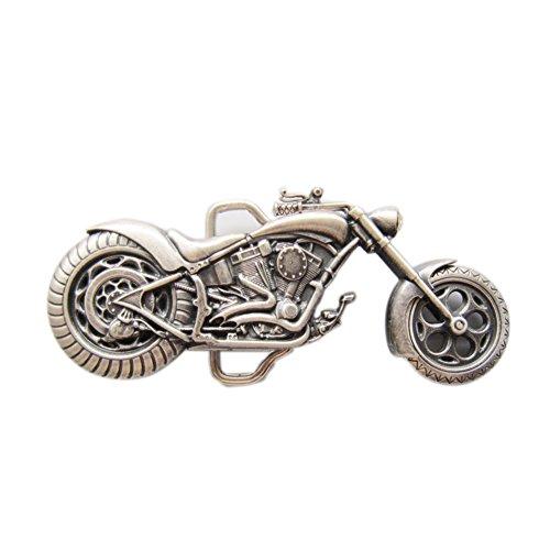 [New Vintage Silver Plated Heavy Motorcycle Biker Rider Belt Buckle] (Biker Buckle)