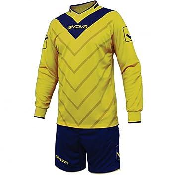 Givova Sanchez, talla S, color azul y amarillo pantalones cortos de fútbol Top de
