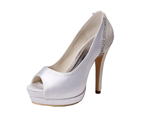 Kevin Fashion , Chaussure de mariée fashion femme - Blanc Cassé - Blanco - blanco, 43 EU